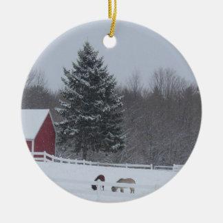 Ornamento de las vacaciones de invierno del país ornamentos para reyes magos