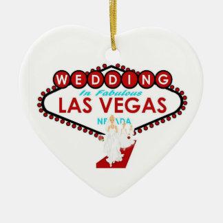 Ornamento de Las Vegas del recuerdo del boda Ornamentos Para Reyes Magos