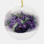 Ornamento de las violetas del vintage adorno de reyes