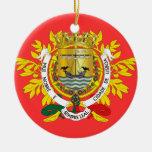 Ornamento de Lisboa* Portugal Adorno Navideño Redondo De Cerámica