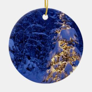 Ornamento de Lite de la nieve Ornamentos De Reyes Magos