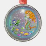 Ornamento de little mermaid ornamentos de navidad