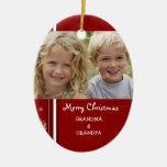 Ornamento de los abuelos de las Felices Navidad de Ornamento De Reyes Magos