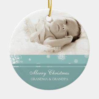 Ornamento de los abuelos de las Felices Navidad de Adorno De Navidad