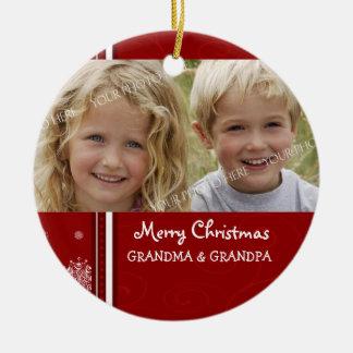 Ornamento de los abuelos de las Felices Navidad de Ornamento Para Arbol De Navidad