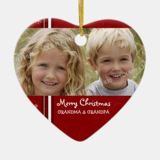 Ornamento de los abuelos de las Felices Navidad de Ornato