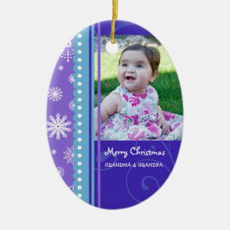 Ornamento de los abuelos de las Felices Navidad de Ornamento Para Reyes Magos