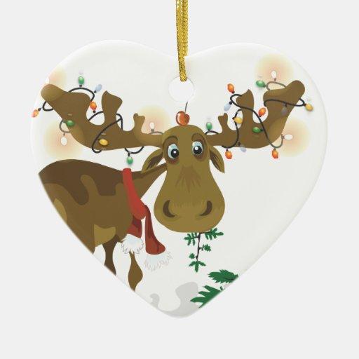 Ornamento de los alces del navidad ornatos