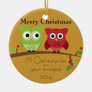 Ornamento de los amigos del búho ornaments para arbol de navidad