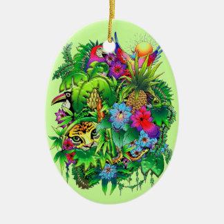 Ornamento de los animales salvajes y de las planta adornos de navidad