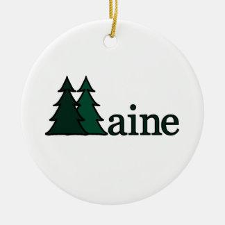 Ornamento de los árboles de pino de Maine Adorno Navideño Redondo De Cerámica