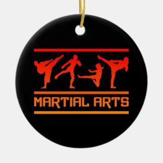 Ornamento de los artes marciales adorno navideño redondo de cerámica