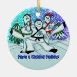 Ornamento de los artes marciales de los muñecos de adornos de navidad