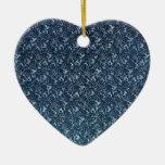 Ornamento de los azules del vintage adornos de navidad