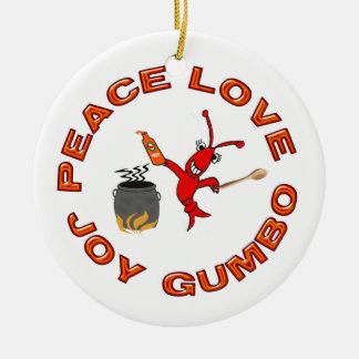 Ornamento de los cangrejos de Cajun del Gumbo de l Ornamento De Navidad