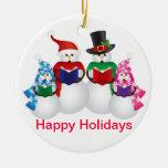 Ornamento de los Carolers del navidad de la famili Ornamento De Navidad