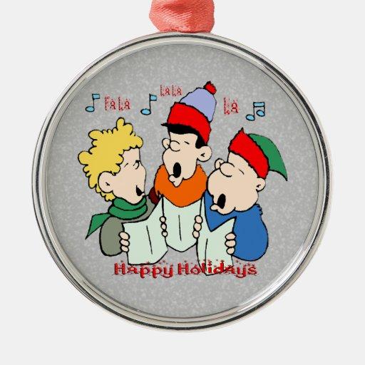 Ornamento de los Carolers del navidad Adorno De Reyes