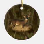 Ornamento de los ciervos de Camoflage del Grunge Ornamento Para Arbol De Navidad