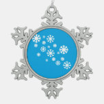 Ornamento de los copos de nieve adornos