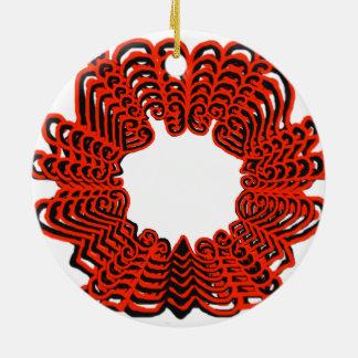 Ornamento de los corazones del hexágono ornatos