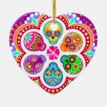 Ornamento de los cráneos del azúcar - día colorido ornamentos para reyes magos