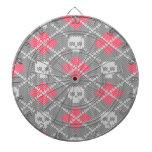 Ornamento de los cráneos del estilo del inconformi tablero de dardos
