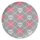 Ornamento de los cráneos del estilo del inconformi plato