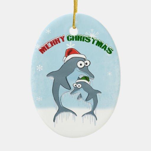 Ornamento de los delfínes del navidad adorno de reyes