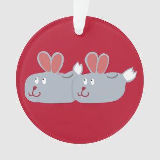¡Ornamento de los deslizadores del conejito!