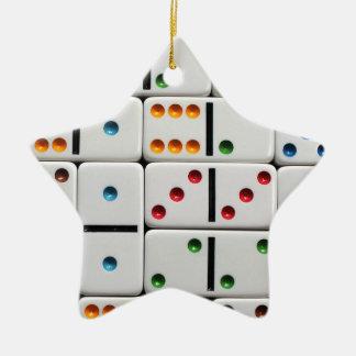 Ornamento de los dominós adorno de navidad