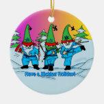Ornamento de los duendes de los artes marciales de ornamentos de navidad