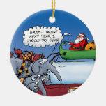 Ornamento de los elefantes de Santa Ornamento De Navidad