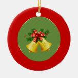 Ornamento de los elementos del navidad adorno redondo de cerámica