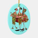 Ornamento de los flamencos adornos de navidad