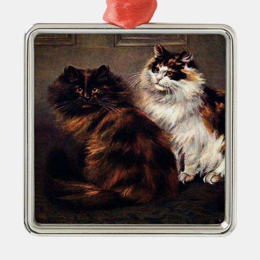 Ornamento de los gatos persas ornamento de navidad