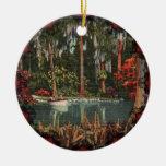Ornamento de los jardines de Cypress del vintage Adorno