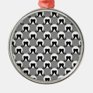 Ornamento de los lunares del bigote del director adorno navideño redondo de metal