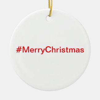 Ornamento de los #MerryChristmas Adorno Navideño Redondo De Cerámica