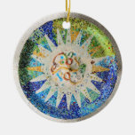 Ornamento de los mosaicos de Guell del parque Adorno De Reyes
