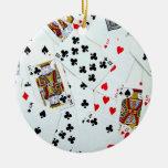 Ornamento de los naipes ornaments para arbol de navidad