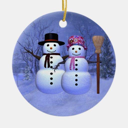 Ornamento de los pares de la nieve adorno para reyes