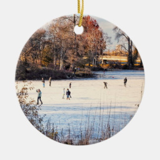 Ornamento de los patinadores de hielo ornaments para arbol de navidad