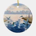 Ornamento de los patos silvestres del otoño ornamento de reyes magos