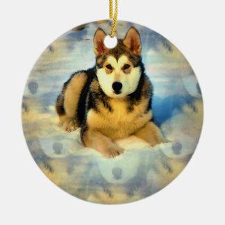 Ornamento de los perritos del Malamute de Alaska Ornamento De Navidad