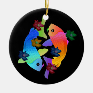Ornamento de los pescados de Koi Adorno De Navidad