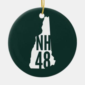 Ornamento de los pies de página de New Hampshire Adorno Navideño Redondo De Cerámica