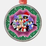 Ornamento de los pingüinos adornos