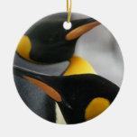 Ornamento de los pingüinos adornos de navidad