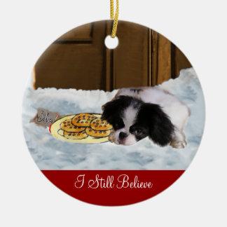 Ornamento de los regalos del navidad de Chin del j Ornamentos De Navidad