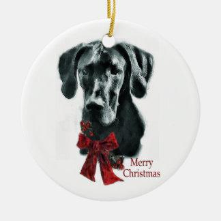Ornamento de los regalos del navidad de great dane ornamento de navidad